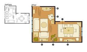 livingroom l l shaped living room dining room furniture layout 16150