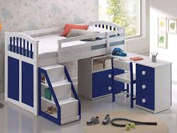 3 Kid Bunk Bed Bedroom Furniture Playhouse Bed With Slide For Kids Maxtrix