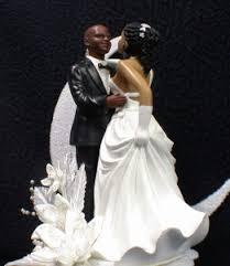 bald hispanic black african american groom and bride wedding