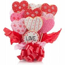 Cookie Gifts Lovely Hearts Cookie Bouquet Iced Cookies Valentine Gifts