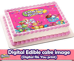 edible cake topper shopkins edible cake topper shopkins by decorationsleon on zibbet
