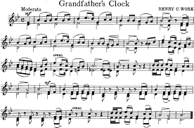 grandfather s grandfathers clock free violin sheet music
