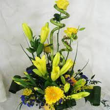 easter basket flower arrangements basket flower arrangement