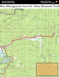 Yellowstone Map Usa by Bear Management Area A1 Mary Mountain Map Yellowstone National