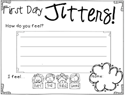 first day jitters worksheets worksheets