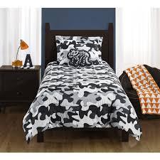 Camo Duvet Cover Mainstays Kids Camo Grey Bedding Comforter Set Walmart Com