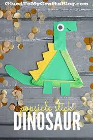popsicle stick dinosaur kid craft craft activities and stick