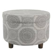 Homepop Storage Ottoman Homepop Storage Ottoman Gray Medallion Free Shipping