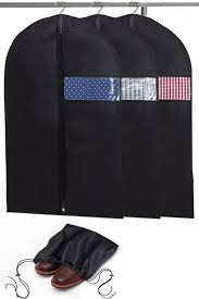 Brown Bags With Clear Window Amazon Com Garment Bags With Shoe Bag Breathable Garment Bag