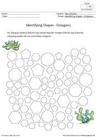 primaryleap co uk identifying shapes octagons worksheet