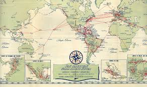 Usps Route Map by Route Map 1952 Pan American World Airways Timetables