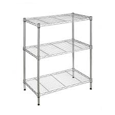 Metal Shelving Unit Shop Style Selections 30 In H X 24 In W X 14 In D 3 Tier Steel