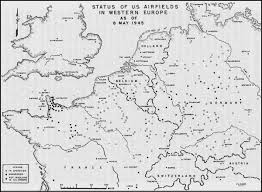 Western Europe Map by Map Of Us Airfields In Western Europe May 1945 Ww2 Maps