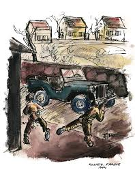 ww2 jeep drawing amazon com a soldier u0027s sketchbook from the front lines of world