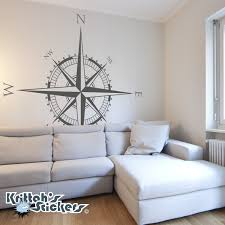 compass rose vinyl wall or ceiling decal k594