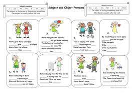 69 free esl subject pronouns worksheets