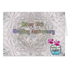 15th wedding anniversary cards invitations zazzle co uk