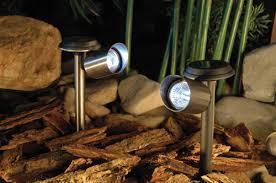 Led Solar Landscape Lights Stainless Steel 3 Led Solar Spot Lights For The Bamboo In The
