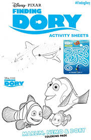 finding dory coloring pages u0026 activity sheets findingdory
