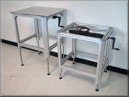 Motorized Adjustable Height Desk by Rdm Stainless Steel Adjustable Height Table Model A107p Ss