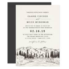mountain wedding invitations mountain wedding invitations announcements zazzle