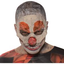 evil clown mask halloween accessory crazy face costume scary