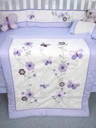 Soho Crib Bedding Set Soho Lavender Butterfly Flower Garden Crib Bedding Set Nursery