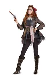Ship Captain Halloween Costume Captain Jack Sparrow Deluxe Costume Women