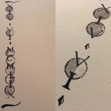 moon cycle and roman numeral tattoo design by 117design on deviantart