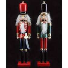 wooden nutcracker ornament by gisela graham co uk kitchen