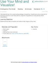 use your mind and visualize lesson plan education com