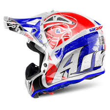 661 motocross helmet airoh aviator 2 2 six days red motocross mx helmet matt gardiner