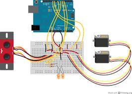 vex robotics led lights using an ultrasonic sensor to measure distance robotc api guide
