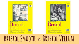 the difference between bristol smooth and bristol vellum by