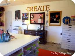 craft room tour amanda at the ivy cottage blog craft room and