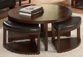 homelegance brussel round cocktail table w 4 ottomans beyond
