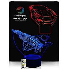 3d Lamps Amazon Huiyuan 3d Night Lamp Colorful Shark Shape Touch Control Light 7