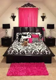 impressive black and pink bedroom decor awesome home interior