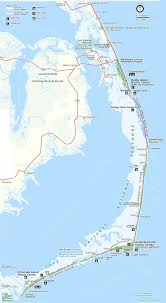 Map Of United States East Coast by Map Of The Outer Banks Including Hatteras And Ocracoke Islands