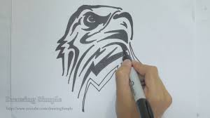 ep 120 how to draw eagle tribal tattoo design youtube