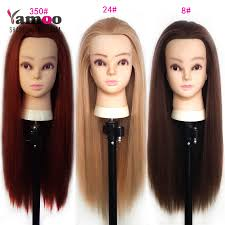 hairstyles to do on manikin training mannequin head with hair 65cm synthetic fiber cosmetology