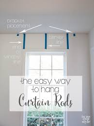 End Mount Curtain Rod Use Painters To Help Hang Curtain Rods Level In A Few Easy