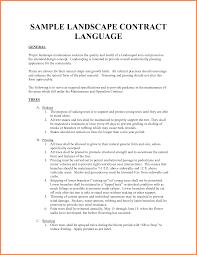 Vendor Contract Template 7 Download Landscaping Contract Template Thebridgesummit Co