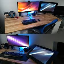 Gaming Desks by My Workspace U003c3 Pc Workspace Battlestation Desk Gaming Setup