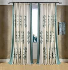 Blackout Window Curtains Bamboo Embroidered Chinese Curtains For Bedroom Blackout Window