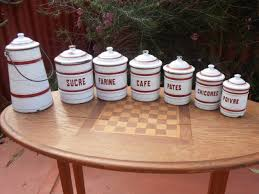 Burgundy Kitchen Canisters Canisters Kitchen U0026 Kitchenware Collectibles