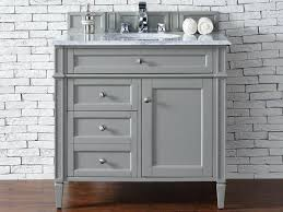 Bathroom Vanities With Top by Contemporary 36 Inch Single Bathroom Vanity Gray Finish No Top