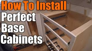 best way to install base cabinets how to install base cabinets the handyman