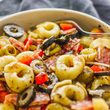tortellini pasta salad with italian dressing savory tooth