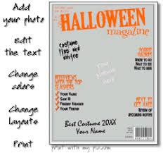 halloween magazine template make and print a halloween magazine